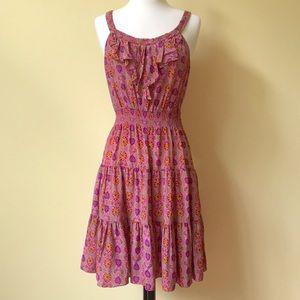 Rebecca Taylor Silk Ruffle Boho Sun Dress